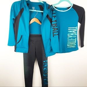 JUSTICE | Teal Volleyball Tracksuit Girls Size 8